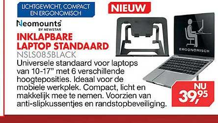 Vobis Inklapbare Laptop Standaard NSLS05Black