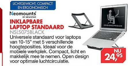 Vobis Inklapbare Laptop Standaard NSLS075Black