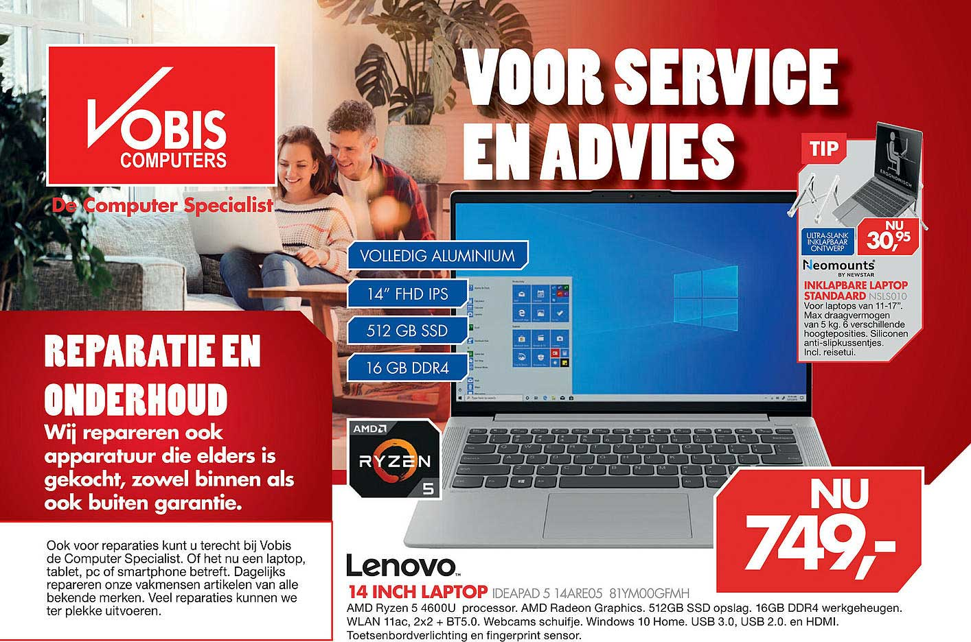 Vobis Lenovo 14 Inch Laptop Ideapad 5 14ARE05 81YM00GFMH