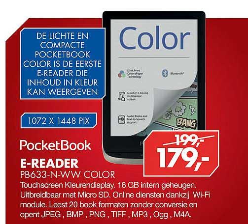 Vobis Pocket Book E-Reader PB633-N-WW Color