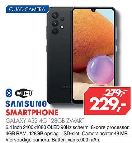 Vobis Samsung Smartphone Galaxy A32 4G 128GB Zwart