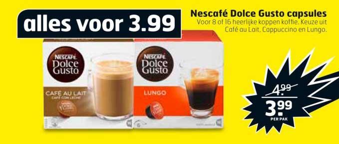 Trekpleister Nescafe Dolce Gusto Capsules