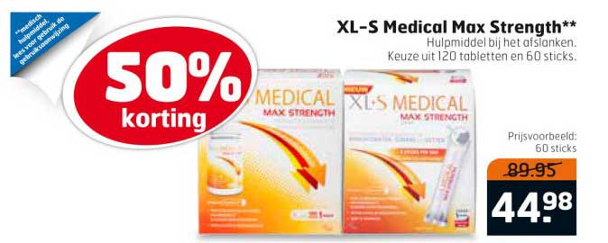 Trekpleister XL-S Medical Max Strength: 50% Korting