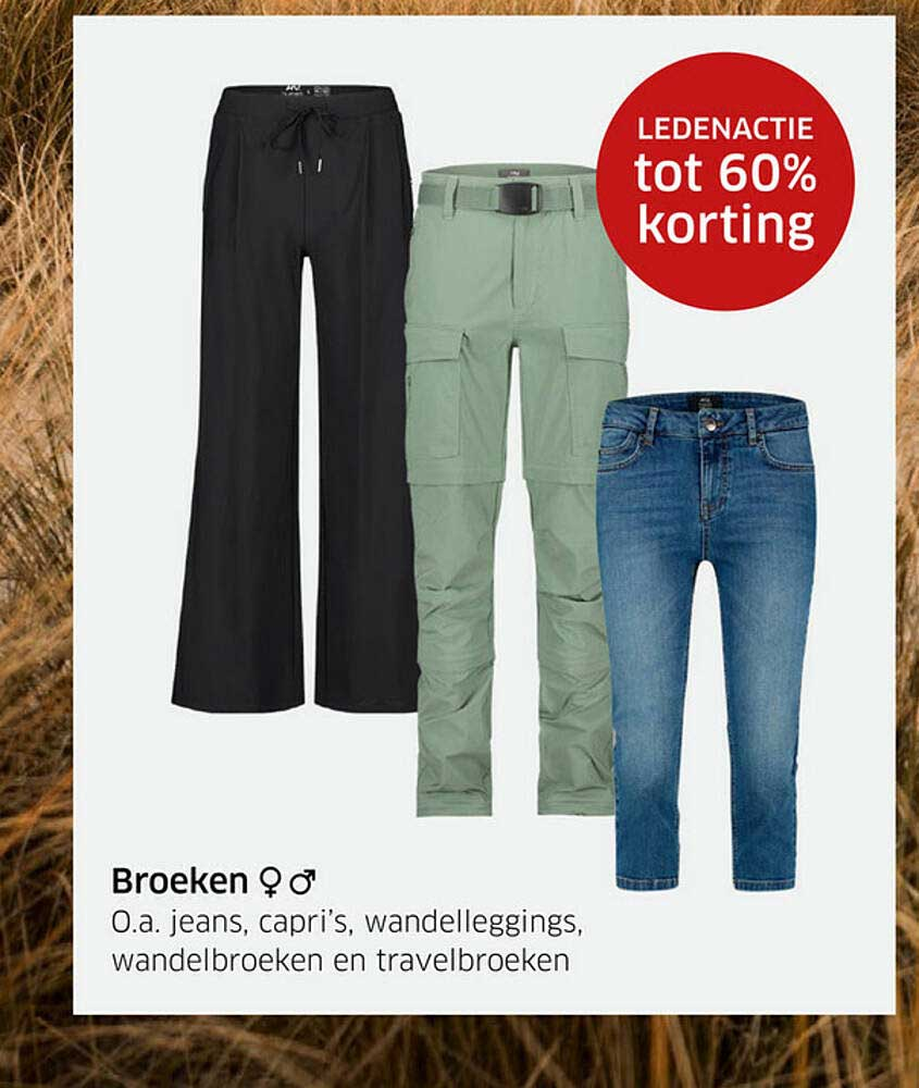 ANWB Broeken : Jeans, Capri's, Wandelleggings, Wandelbroeken En Travelbroeken Ledenactie Tot 60% Korting