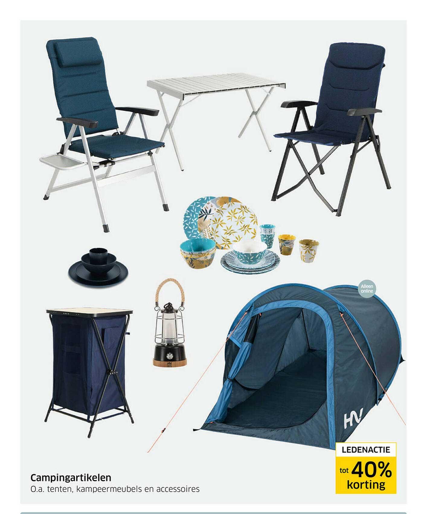 ANWB Campingartikelen : Tenten, Kampeermeubels En Accessoires Ledenactie Tot 40% Korting