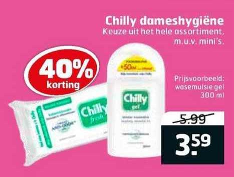 Trekpleister Chilly Dameshygiëne 40% Korting