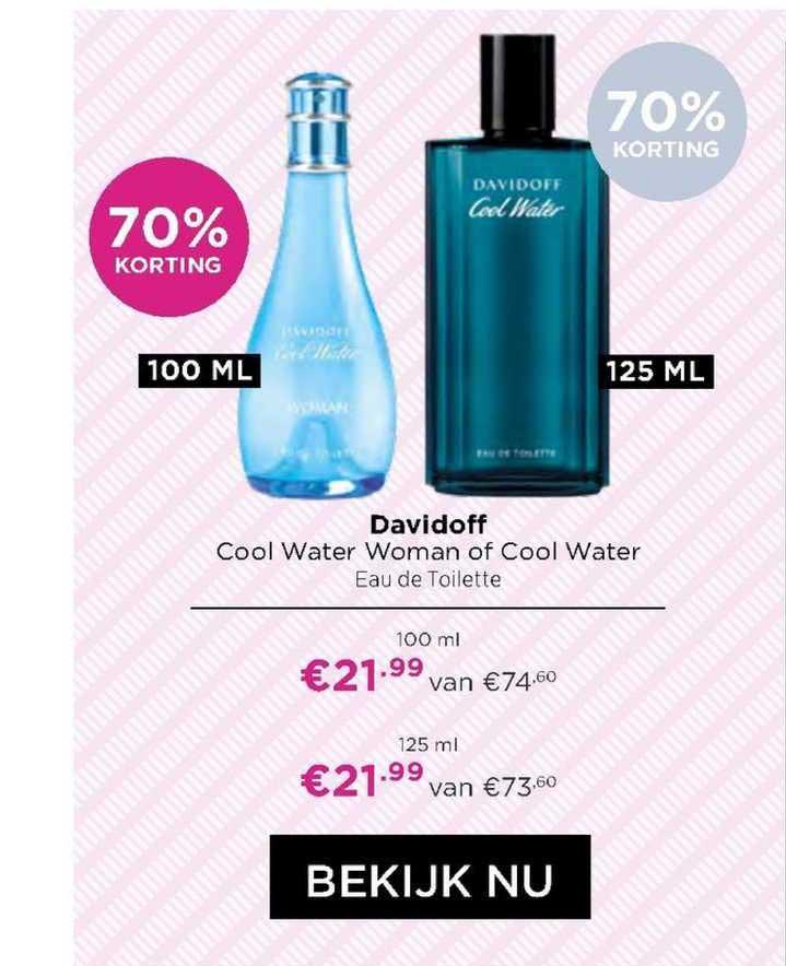 ICI PARIS XL Davidoff Cool Water Woman Of Cool Water Eau De Toilette 70% Korting