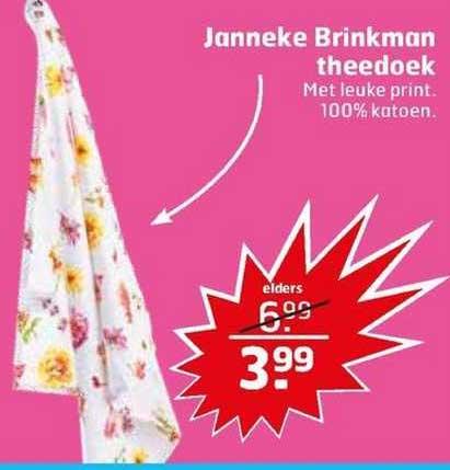 Trekpleister Janneke Brinkman Theedoek