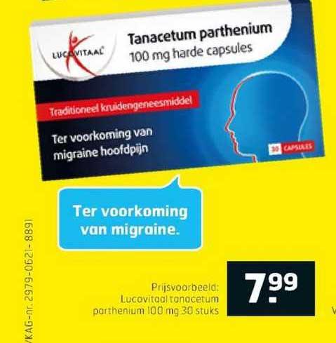 Trekpleister Lucovitaal Tanacetum Parthenium 100 Mg