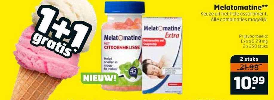 Trekpleister Melatomatine 1+1 Gratis
