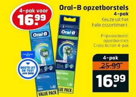 Trekpleister Oral-B Opzetborstels 4-Pak