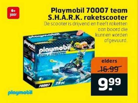 Trekpleister Playmobil 70007 Team S.H.A.R.K. Raketscooter