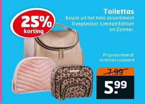 Trekpleister Toilettas 25% Korting