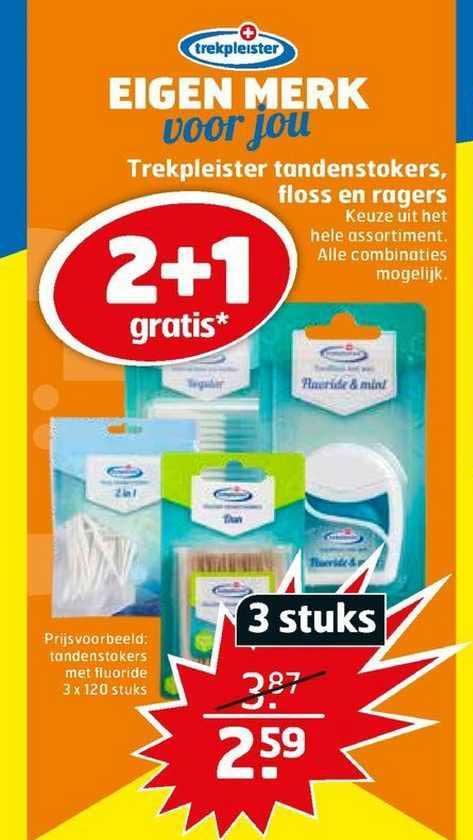 Trekpleister Trekpleister Tandenstokers, Floss En Ragers 2+1 Gratis