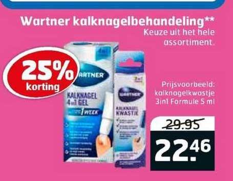 Trekpleister Wartner Kalknagelbehandeling 25% Korting