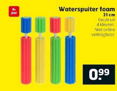 Trekpleister Waterspuiter Foam 31 Cm