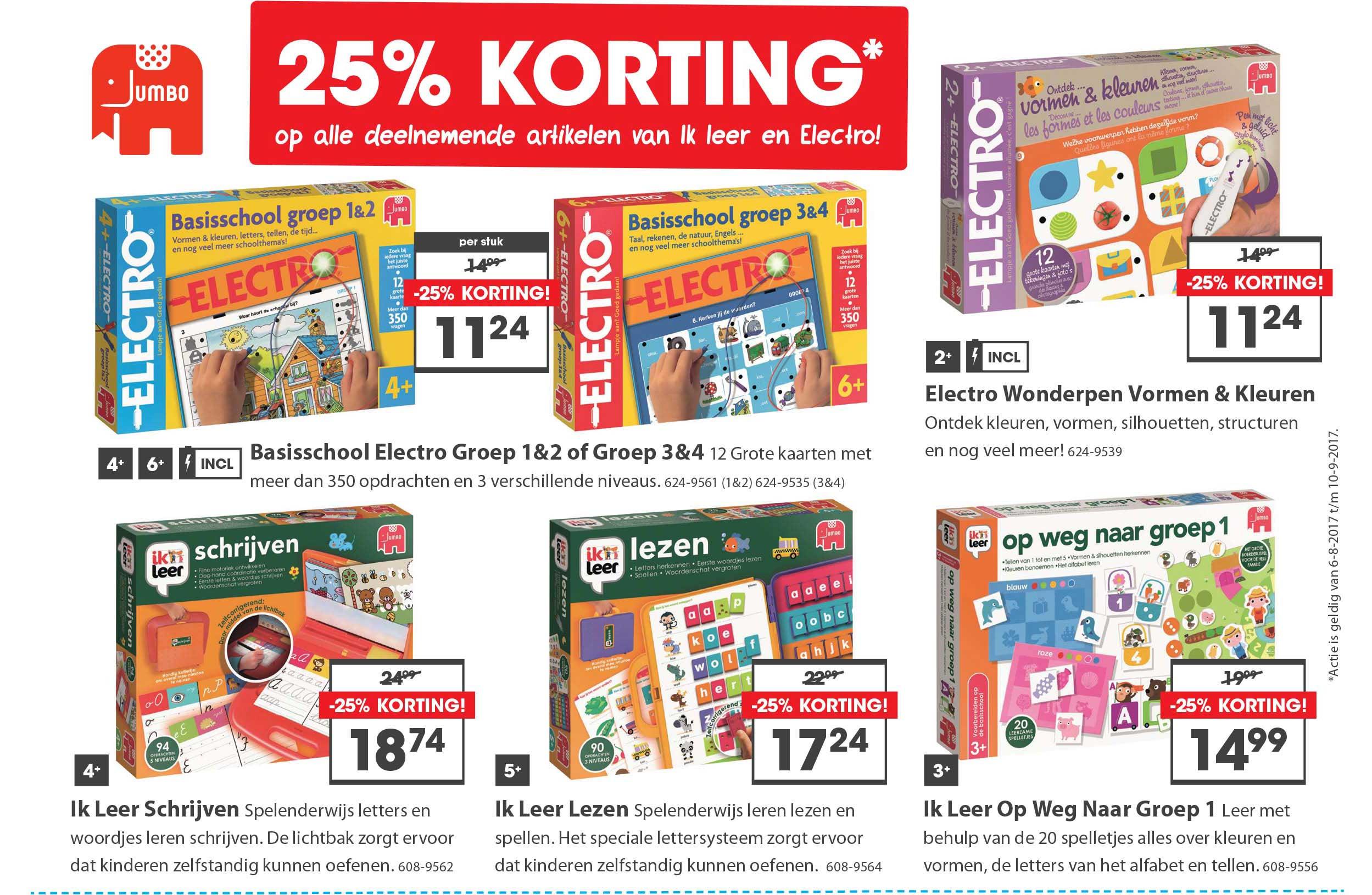 Top 1 Toys 25% Korting Op Alle Deelnemende Artikelen Van Ik Leer En Electro!