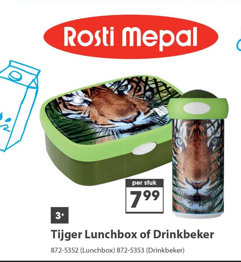 Top 1 Toys Rosti Mepal Tijger Lunchbox Of Drinkbeker