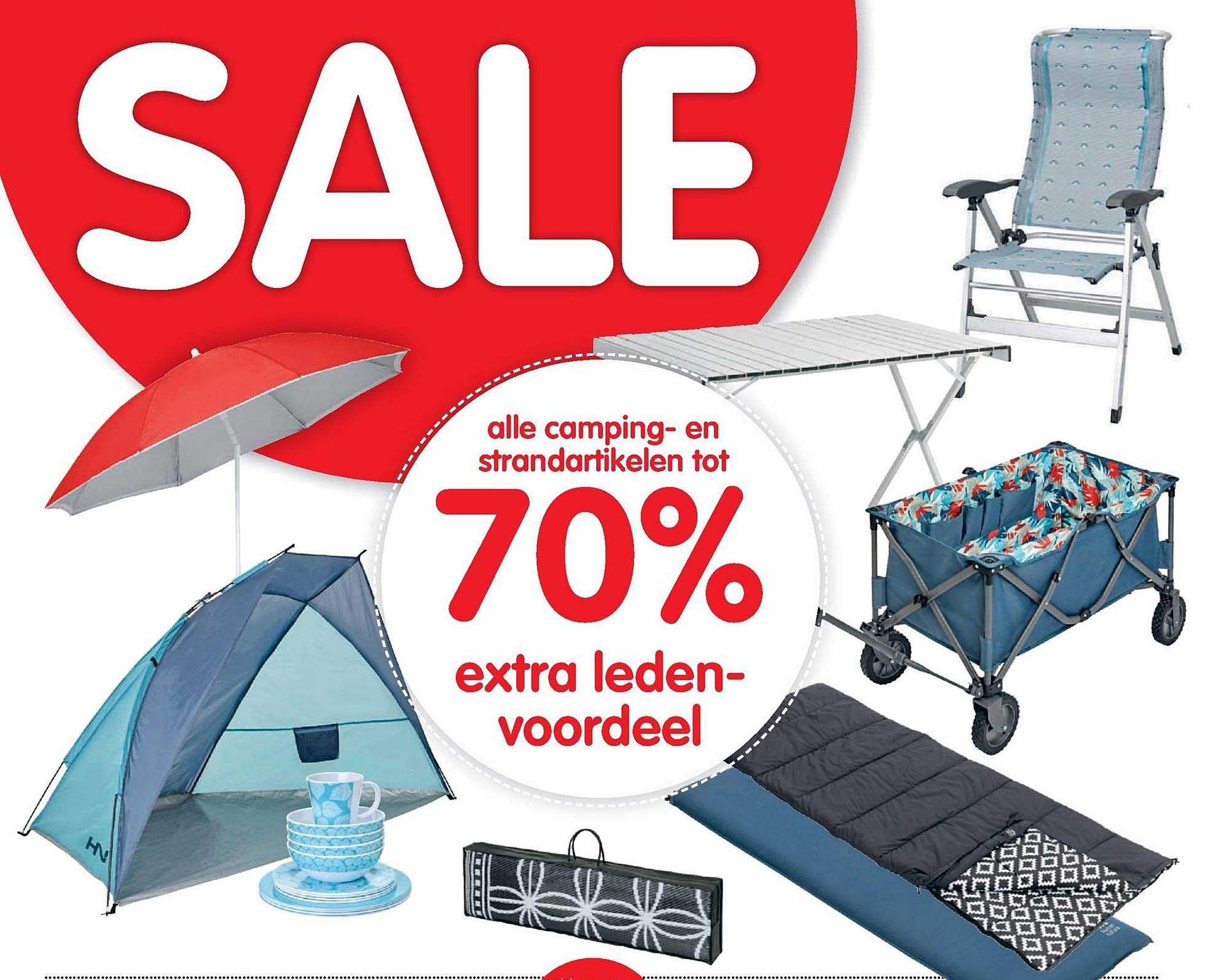 ANWB Alle Camping En Strandartikelen Tot 70% Extra Ledenvoordeel