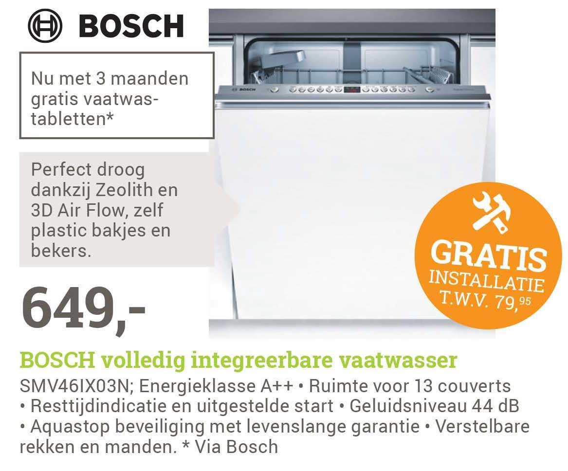 BCC Bosch Volledig Integreerbare Vaatwasser + GRATIS Installatie T.w.v. €79,95
