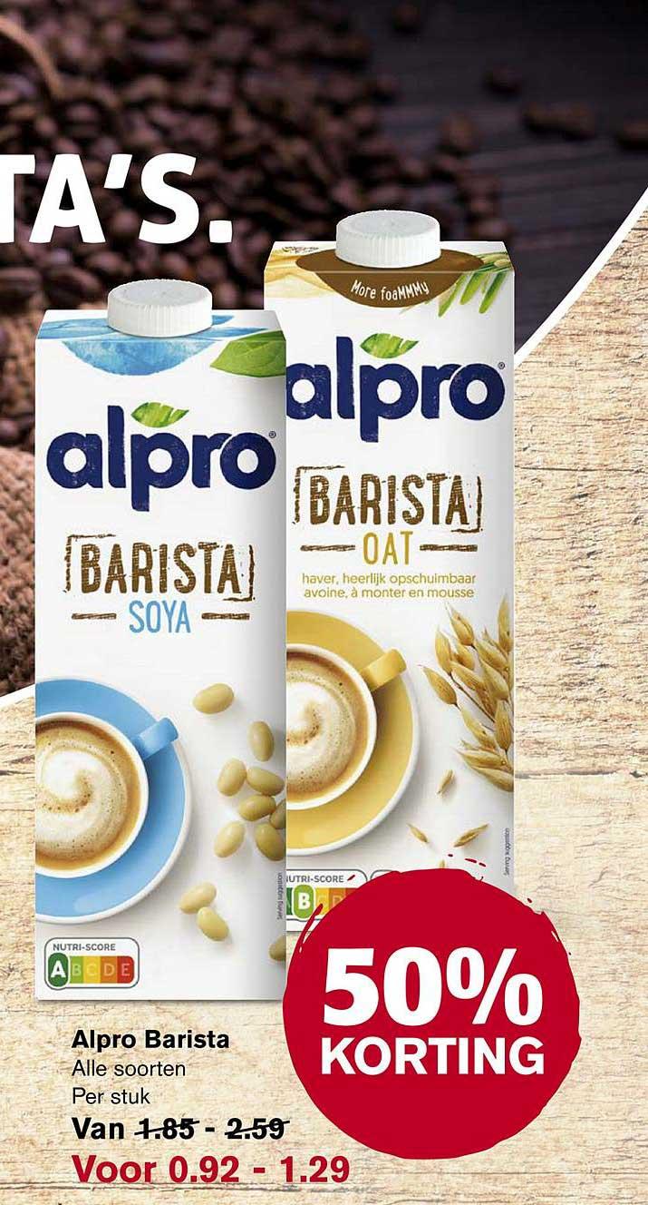 Hoogvliet Alpro Barista 50% Korting