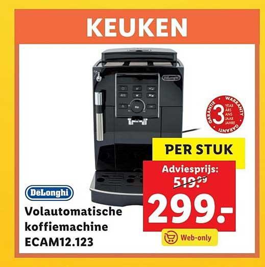 Lidl Shop DeLonghi Volautomatische Koffiemachine ECAM12.123