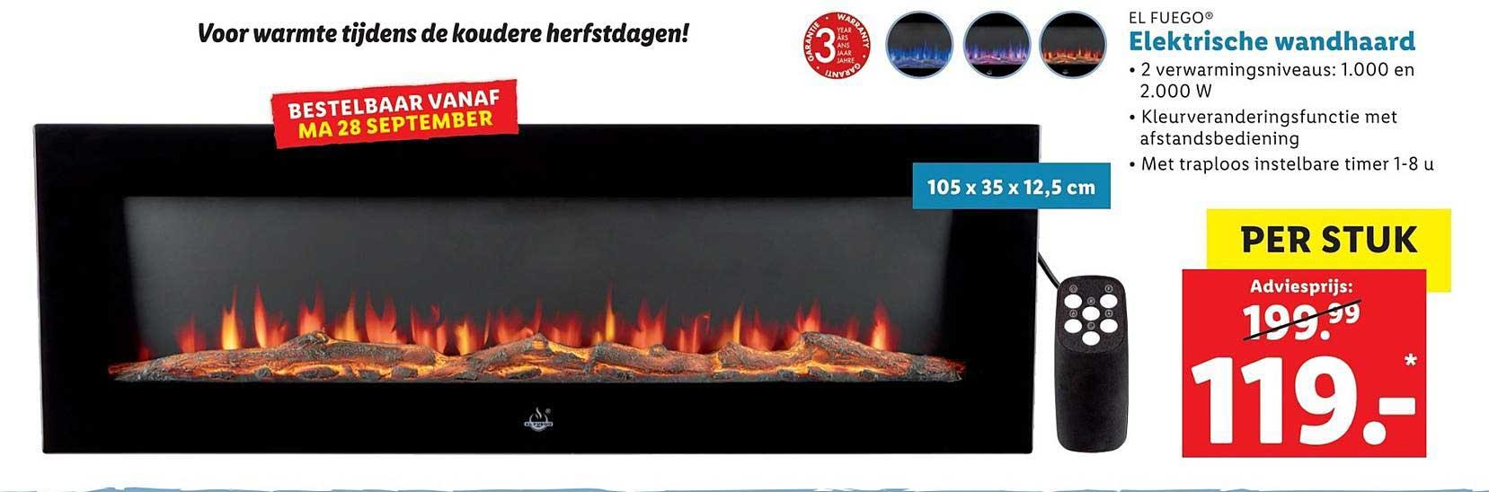 Lidl Shop El Fuego Elektrische Wandhaard