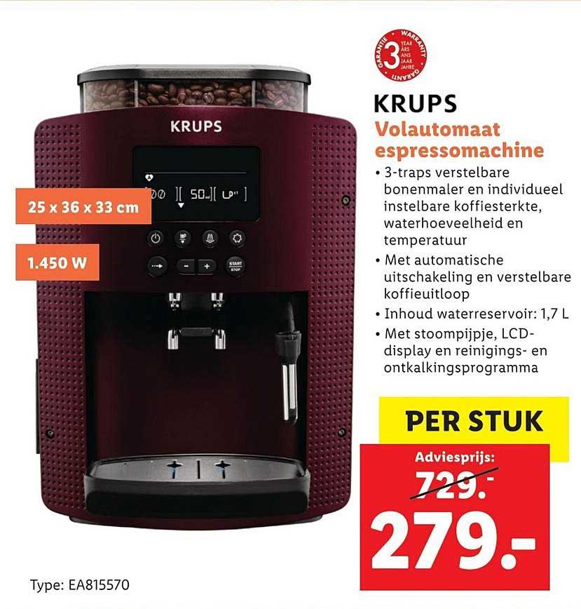Lidl Shop Krups Volautomaat Espressomachine