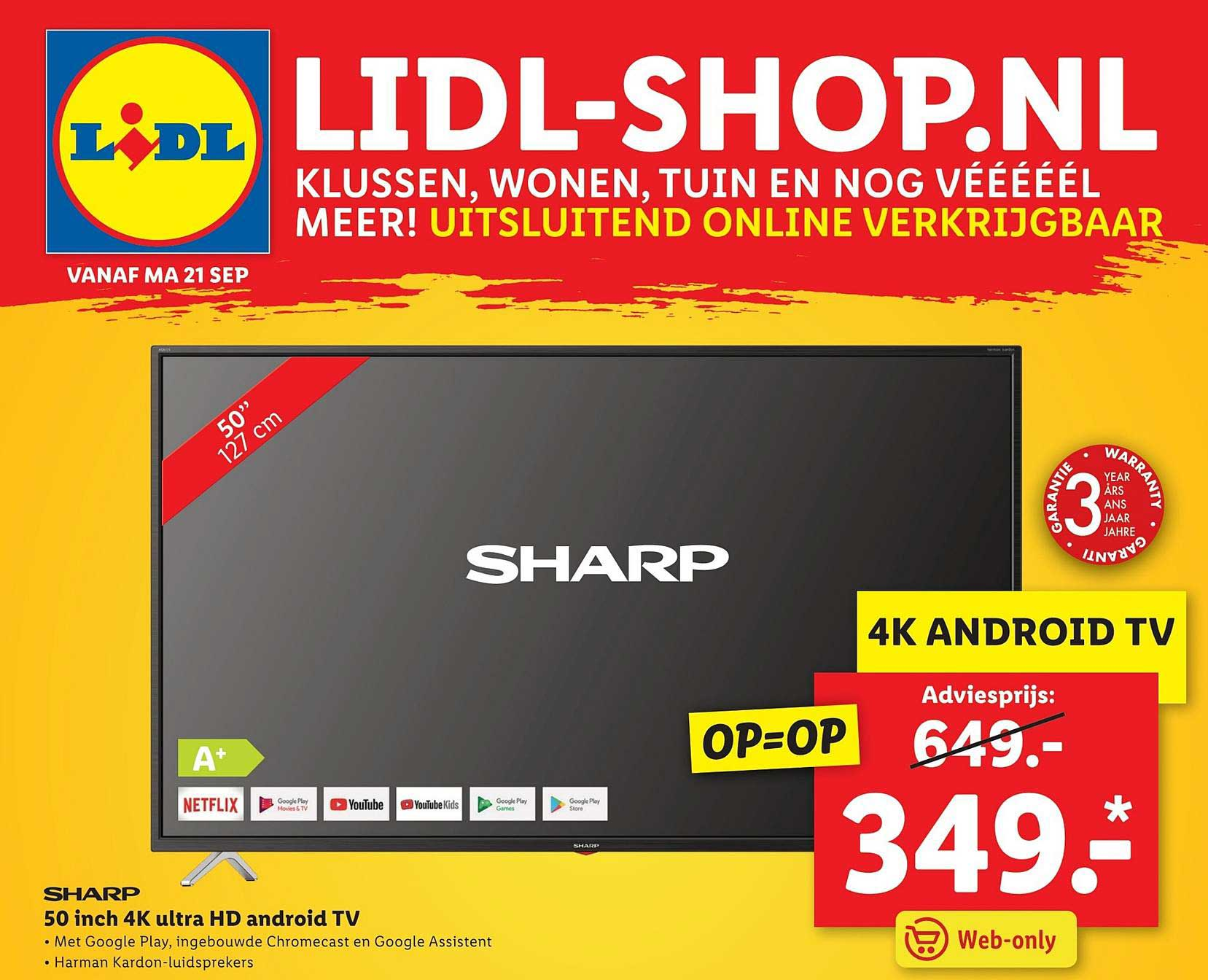 Lidl Shop Sharp 50 Inch 4K Ultra HD Android TV