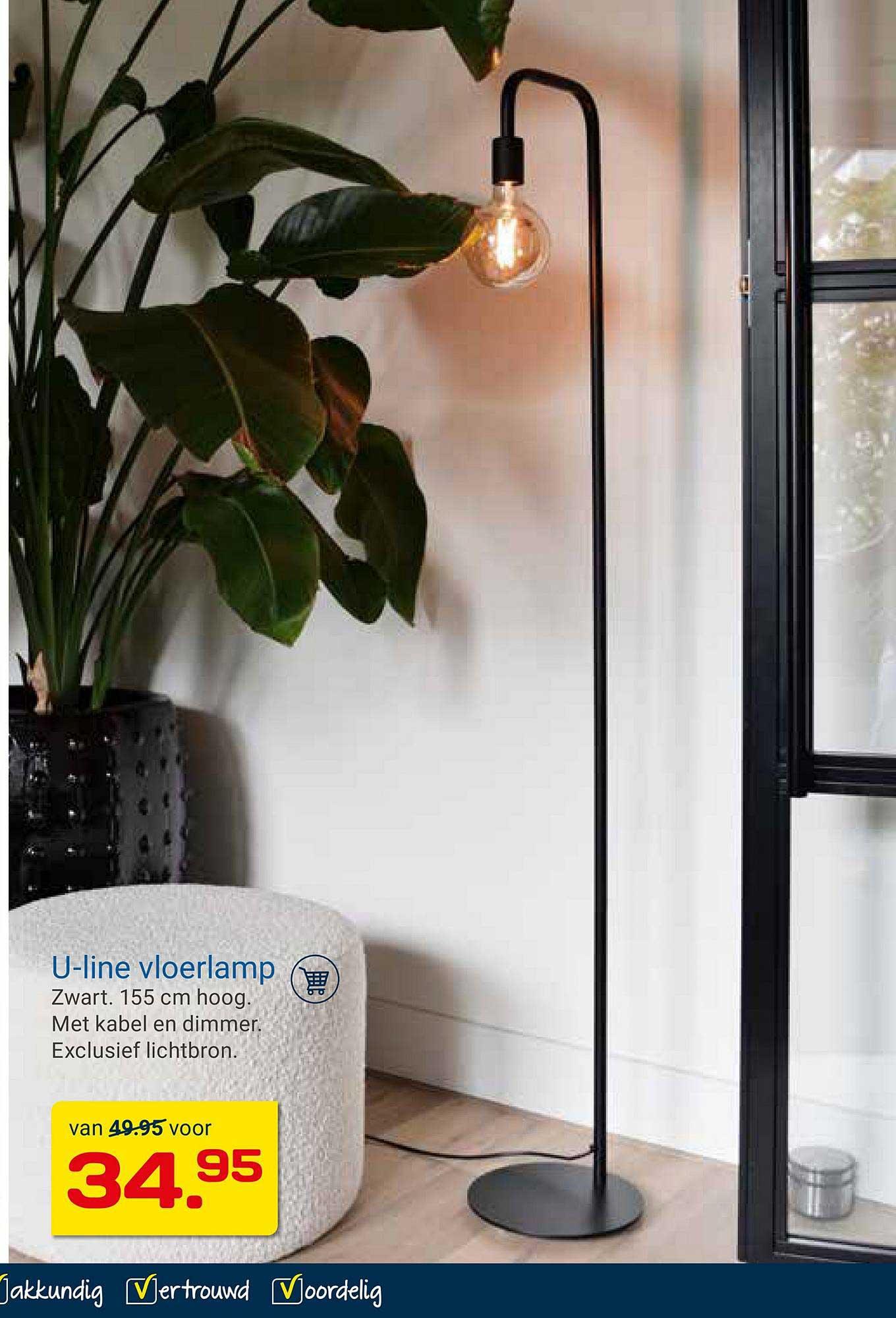 KlusWijs U-Line Vloerlamp