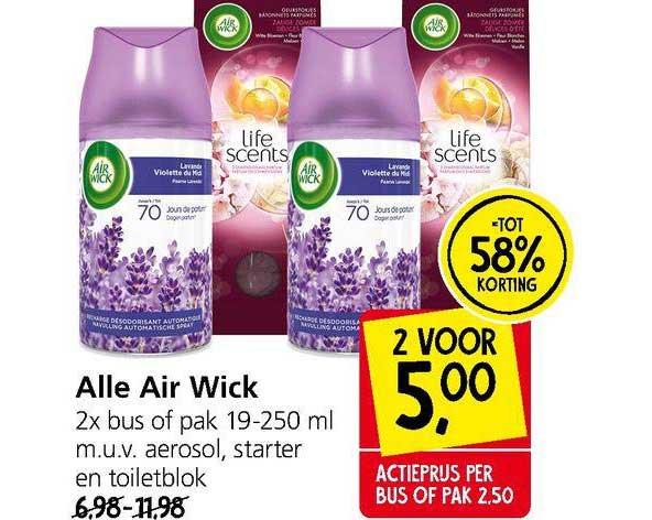 Jan Linders Alle Air Wick Tot 58% Korting