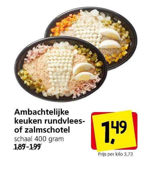 Jan Linders Ambachtelijke Keuken Rundvlees- Of Zalmschotel