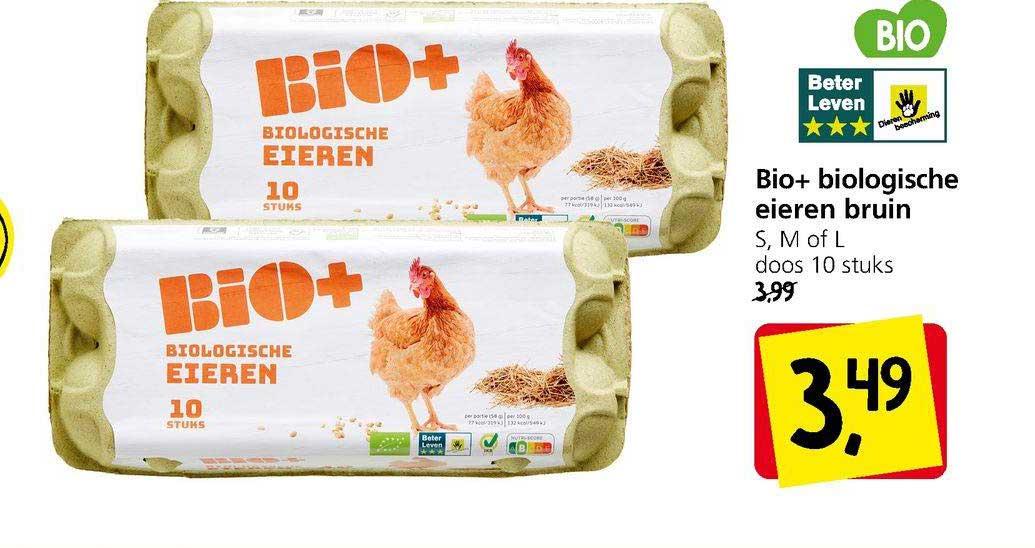 Jan Linders Bio+ Biologische Eieren Bruin S, M Of L