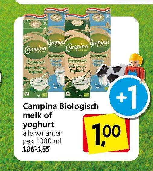 Jan Linders Campina Biologisch Melk Of Yoghurt