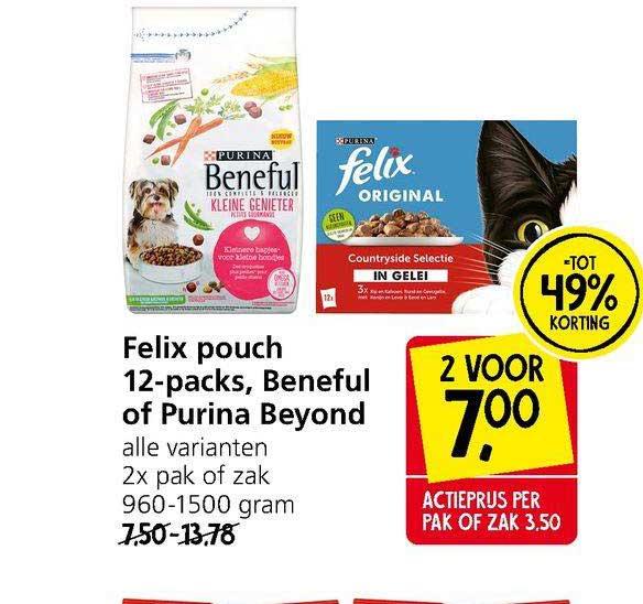 Jan Linders Felix Pouch 12-Packs, Beneful Of Purina Beyond Tot 49% Korting