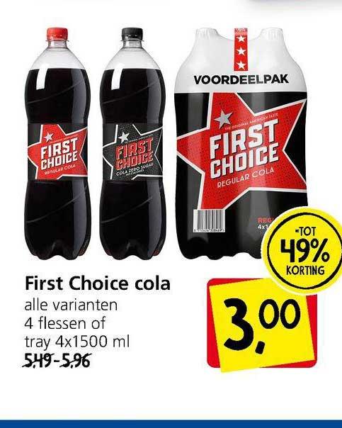 Jan Linders First Choice Cola Tot 49% Korting