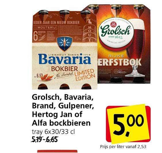 Jan Linders Grolsch, Bavaria, Brand, Gulpener, Hertog Jan Of Alfa Bockbieren