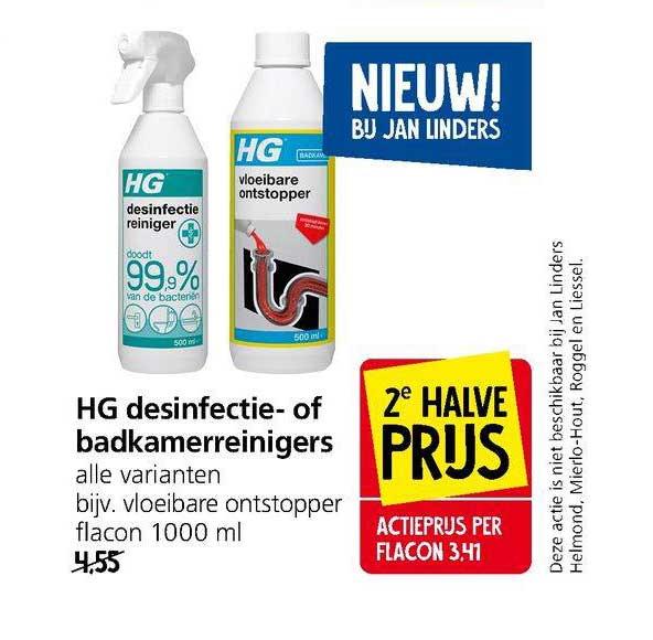 Jan Linders HG Desinfectie- Of Badkamerreinigers
