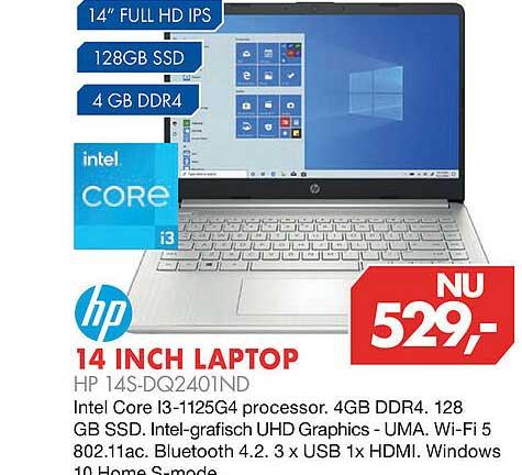 Vobis HP 14 Inch Laptop HP 14S-DQ2401ND