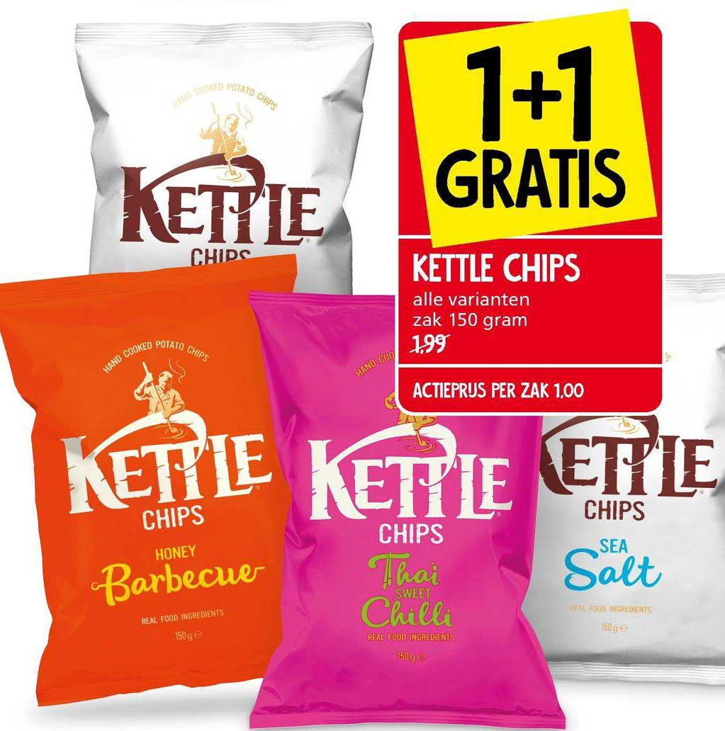 Jan Linders Kettle Chips 1+1 Gratis