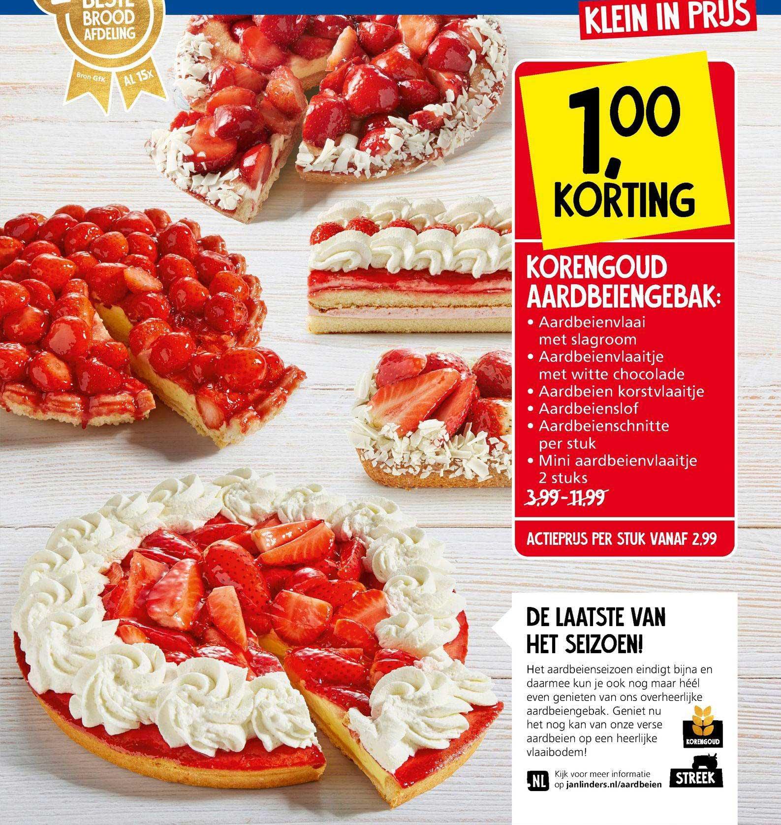 Jan Linders Korengoud Aardbeiengebak: Aardbeienvlaai Met Slagroom, Aardbeienvlaaitje Met Witte Chocolate, Aardbeien Korstvlaaitje, Aardbeienslof, Aardbeienschnitte Of Mini Aardbeienvlaaitje