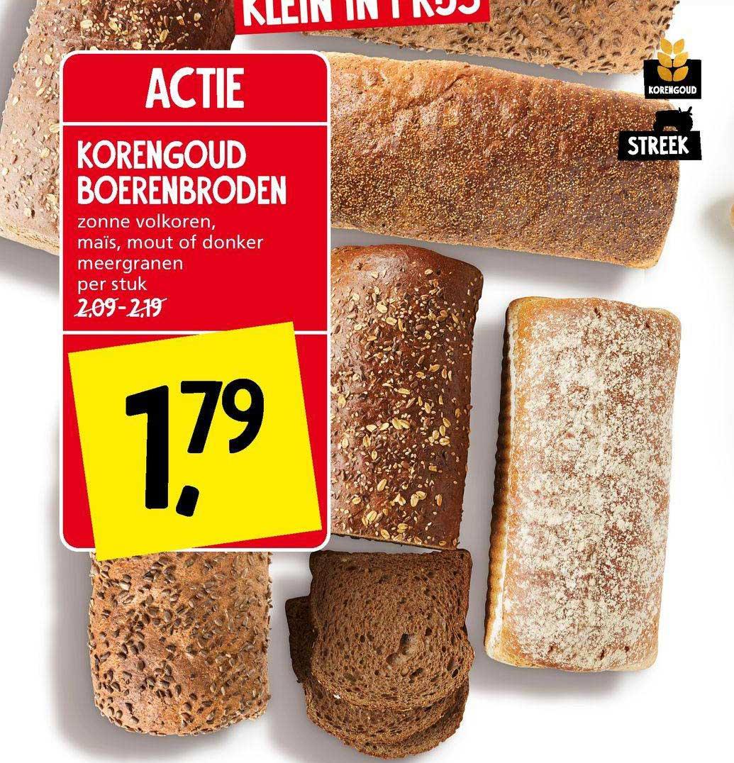 Jan Linders Korengoud Boerenbroden Zonne Volkoren, Maïs, Mout Of Donker Meergranen