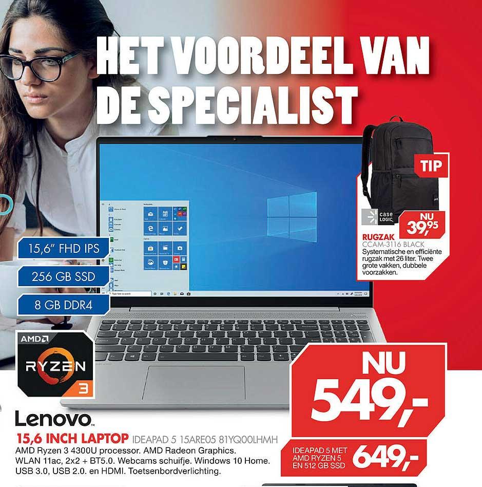 Vobis Lenovo 15,6 Inch Laptop Ideapad 5 15ARE05 81YQ00LHMH