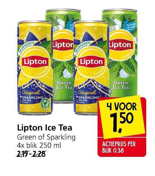 Jan Linders Lipton Ice Tea Green Of Sparkling