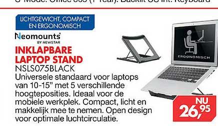 Vobis Neomounts By Newstar Inklapbare Laptop Stand NSLS075Black
