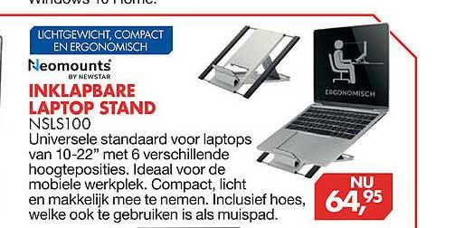 Vobis Neomounts By Newstar Inklapbare Laptop Stand NSLS100