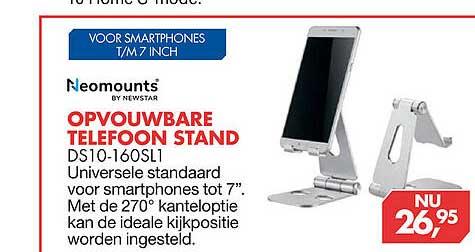 Vobis Neomounts By Newstar Opvouwbare Telefoon Stand DS10-160SL1