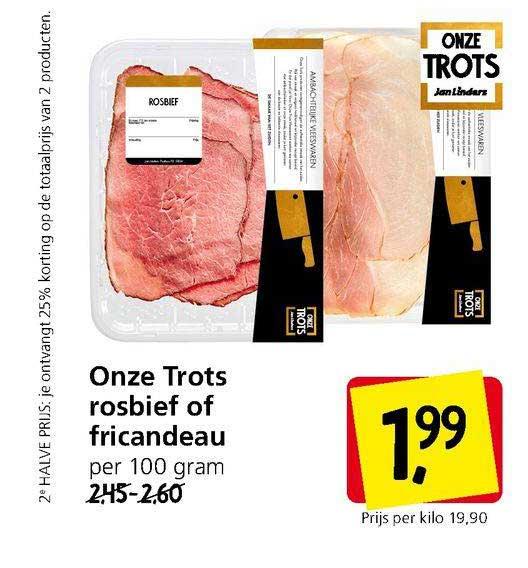 Jan Linders Onze Trots Rosbief Of Fricandeau