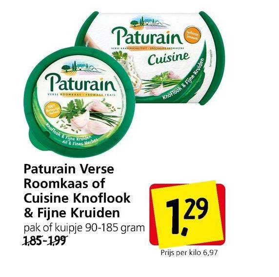 Jan Linders Paturain Verse Roomkaas Of Cuisine Knoflook & Fijne Kruiden