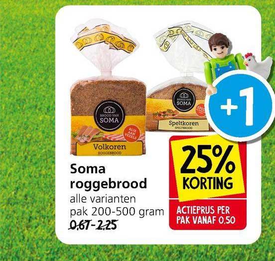 Jan Linders Soma Roggebrood 25% Korting